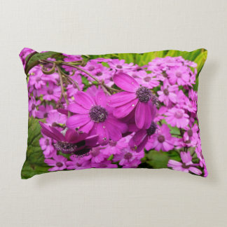 Purple Flowers in San Francisco Accent Pillow
