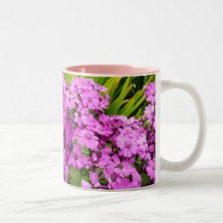 Purple Flowers in San Francisco Two-Tone Mug