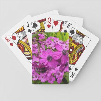 Purple Flowers in San Francisco Poker Deck