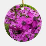 Purple Flowers in San Francisco Ornament