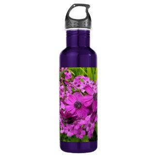 Purple Flowers in San Francisco 24oz Water Bottle