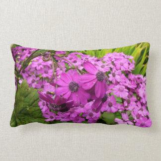 Purple Flowers in San Francisco Throw Pillows