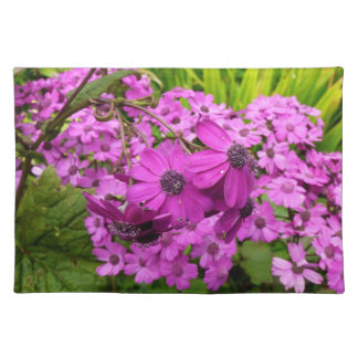 Purple Flowers in San Francisco Cloth Placemat