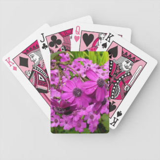 Purple Flowers in San Francisco Bicycle Playing Cards