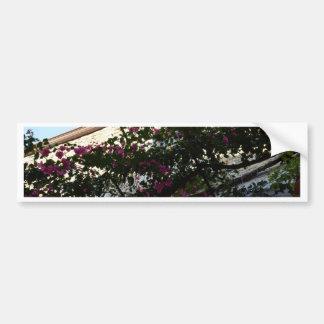 Purple Flowers In Winter Car Bumper Sticker