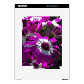 Purple Flowers iPad 2 Decals