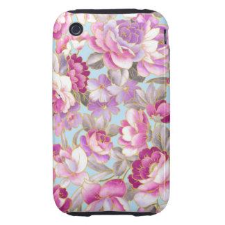 Purple Flowers iPhone 3 Tough Case