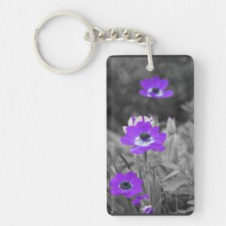 Purple Flowers - keychain