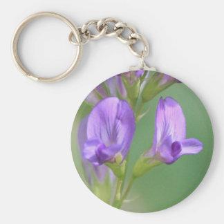 Purple Flowers Key Chains