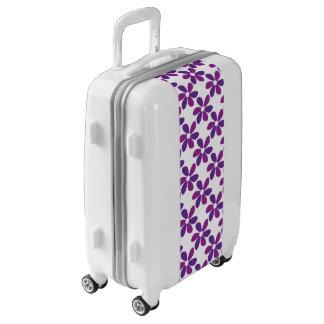 Purple Flowers Luggage
