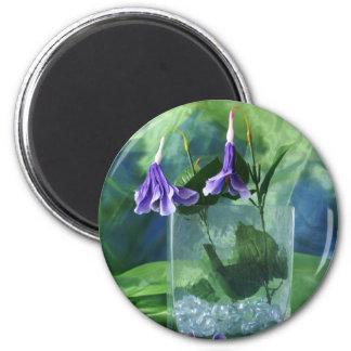 Purple Flowers Fridge Magnets