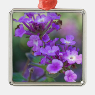 Purple Flowers Metal Ornament