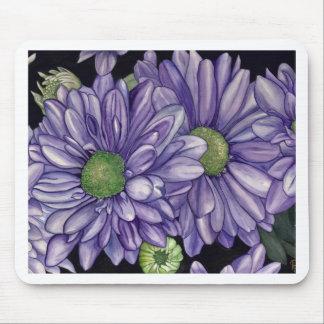 Purple Flowers Mouse Pad