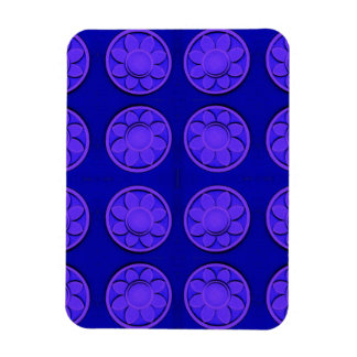 purple flowers on blue magnet