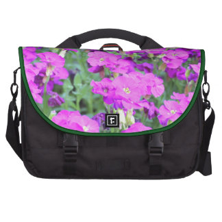 Purple flowers on products laptop bag