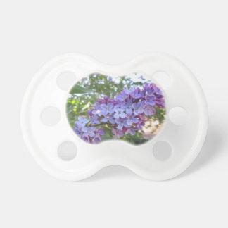 Purple Flowers BooginHead Pacifier