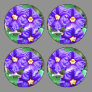 Purple Flowers Pack Of Large Button Covers