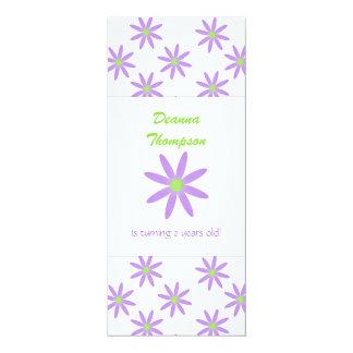 Purple Flowers Party Invitation
