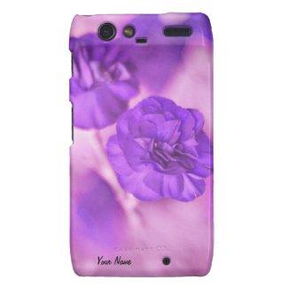 Purple Flowers Personal Droid RAZR Case