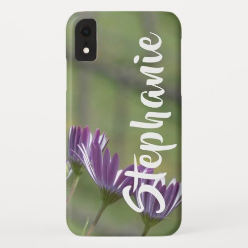 Purple Flowers Personalized iPhone XR, XS, XS Max iPhone XR Case