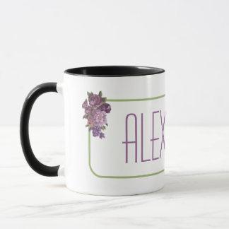 Purple Flowers Personalized Mug