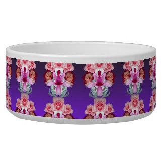 Purple Flowers Pet Bowl