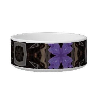 Purple Flowers Cat Bowls