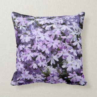 Purple Flowers (Phlox) Pillow
