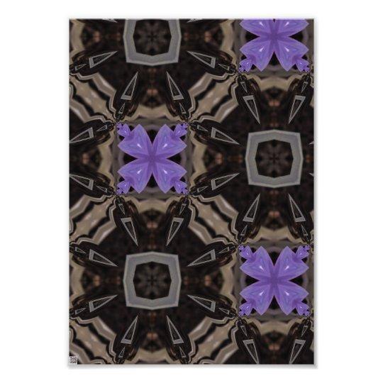 Purple Flowers Photo Print