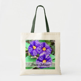 Purple Flowers photograph Tote Bag