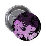 Purple Flowers Pinback Button