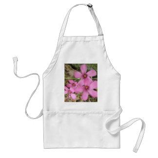 Purple Flowers Pink Wildflowers Floral Print Aprons