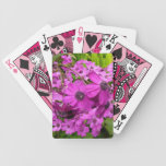 Purple Flowers Playing Cards
