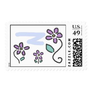 Purple Flowers Postage