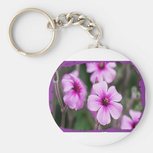 PURPLE FLOWERS PRODUCTS KEY CHAINS