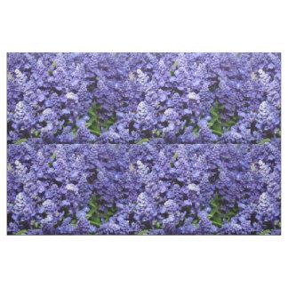 Purple Flowers Quilt Fabric Blue Salvia