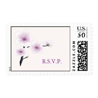 Purple Flowers R.S.V.P. Postage