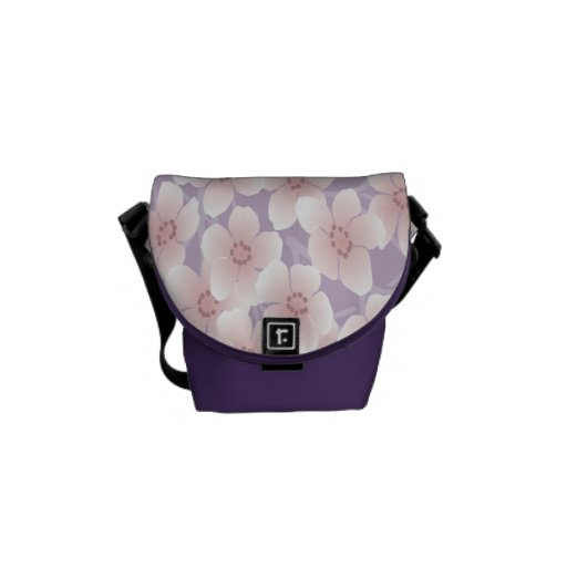 Purple Flowers Rickshaw Mini Zero Messenger Bag