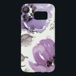 "Purple Flowers Samsung Galaxy S7 Case<br><div class=""desc"">&#169; Pela Studio / Wild Apple.  An image of two flowers in rple. The leaves and stems of the flowers can also be seen on the image.</div>"