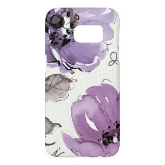 Purple Flowers Samsung Galaxy S7 Case