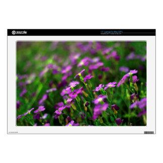 purple flowers laptop decals