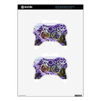 Purple Flowers Xbox 360 Controller Skin