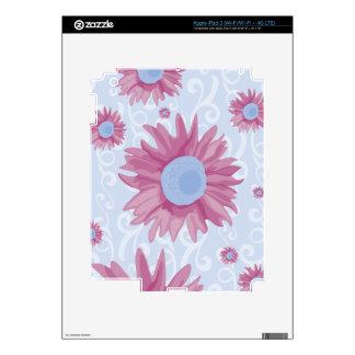 Purple Flowers Skins For iPad 3