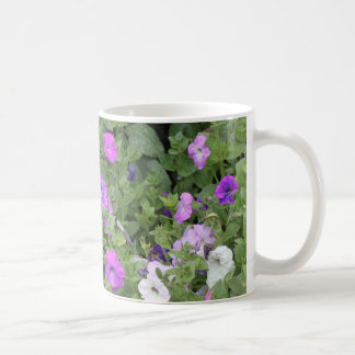 Purple Flowers Spring Garden Theme Petunia Floral Coffee Mug