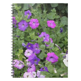 Purple Flowers Spring Garden Theme Petunia Floral Notebook