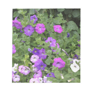 Purple Flowers Spring Garden Theme Petunia Floral Notepad