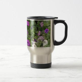 Purple Flowers Spring Garden Theme Petunia Floral Travel Mug
