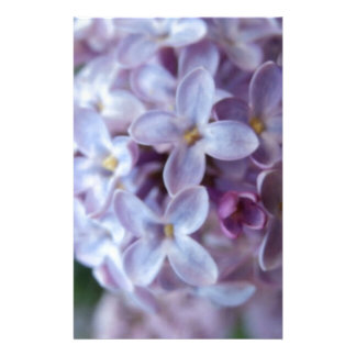 Purple Flowers Stationery