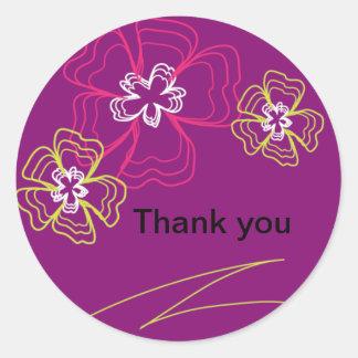 Purple Flowers Stickers