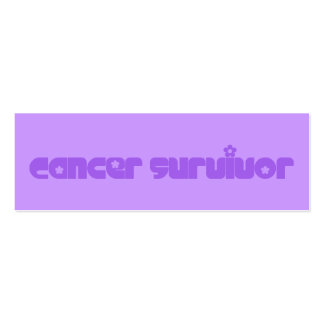 Purple Flowers Survivor Bookmark Double-Sided Mini Business Cards (Pack Of 20)